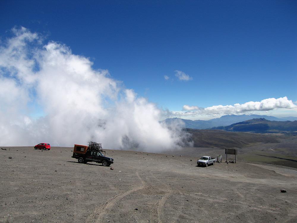 Parkplatz in 4800 m Höhe