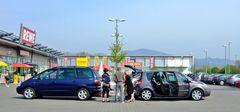 Parkplatz-Palaver auf französisch