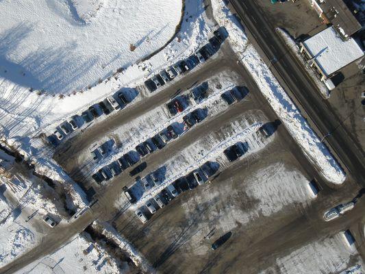 Parkplatz von oben