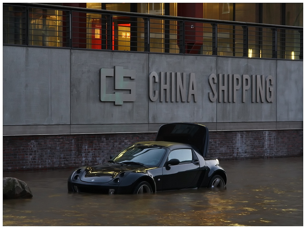 Parkplatz vor China Shipping
