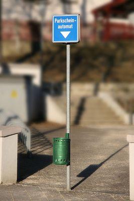 Parkplatzbenutzungsberechtigungsscheinausgabegerät