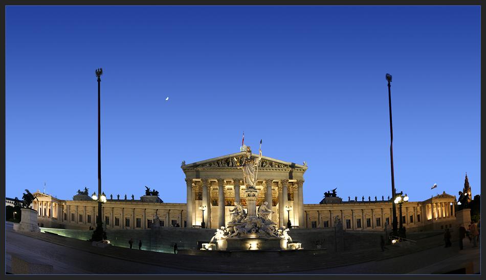 ... parlament bei nacht ...