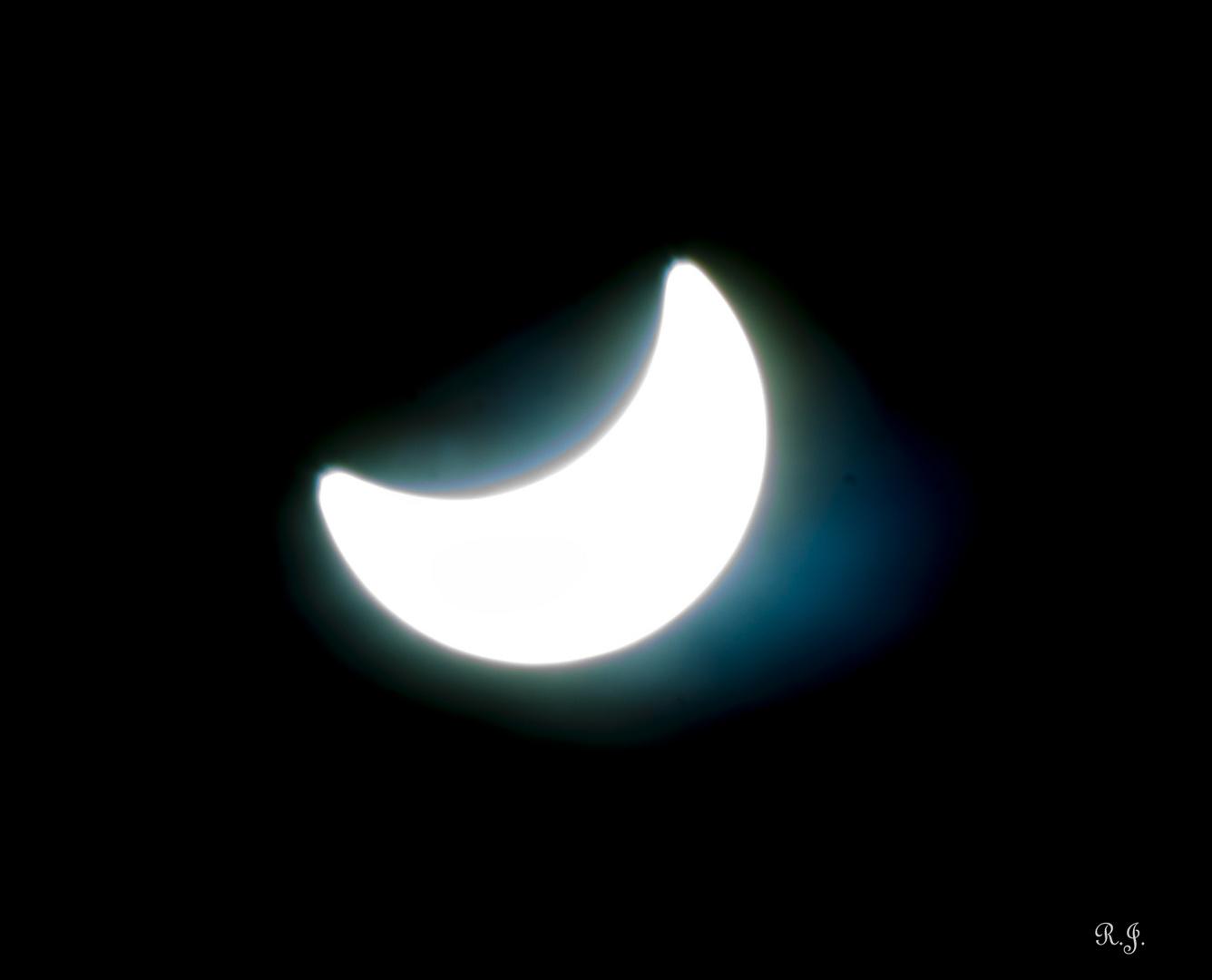 part. Sonnenfinsternis März 2015