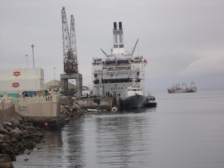 Parte del puerto de coquimbo