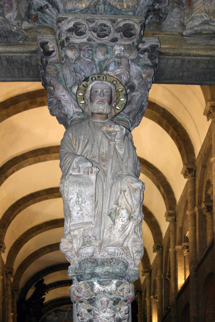 Parteluz del Pórtico de la Gloria, de Santiago de Compostela