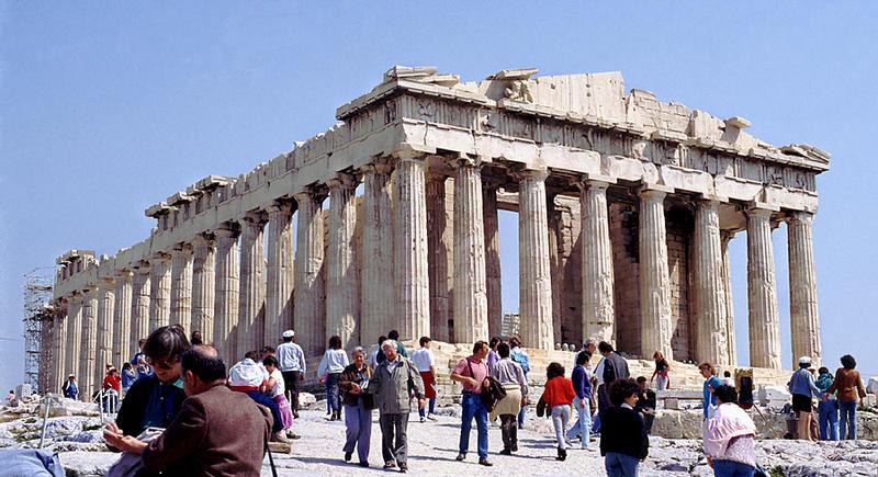 Parthenon-Tempel auf der Akropolis von Athen 1 Foto & Bild ...