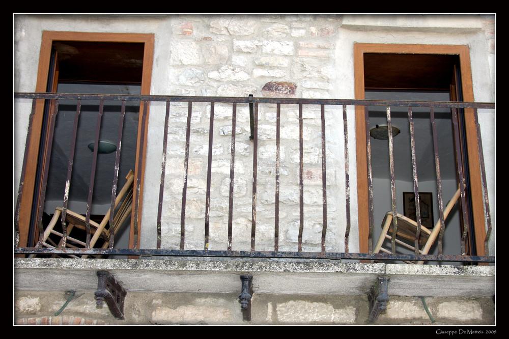 particolare di un balcone