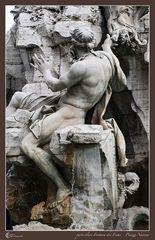 particolare Fontana dei Fiumi - Piazza Navona 01