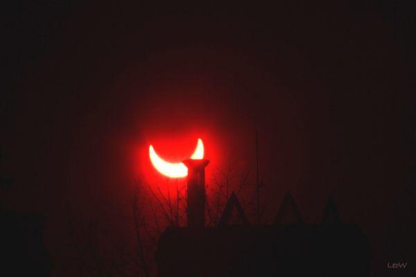 Partielle Sonnenfinsternis 4.1.2011