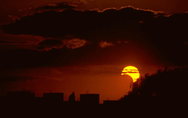 partielle Sonnenfinsterniss über Berlin