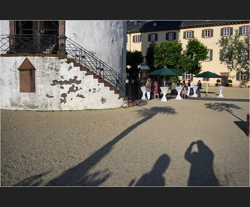 Party im Schlosshof...