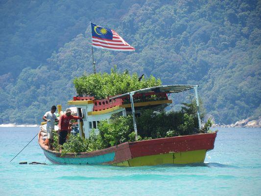 paseo en barca , con su propio jardin.algo original