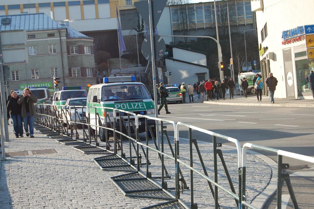 Passau 03.01.2009 Polizeiaufmarsch (2)