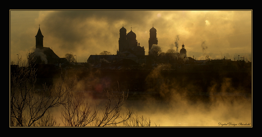 Passau erwacht an einem Wintermorgen - Version 2