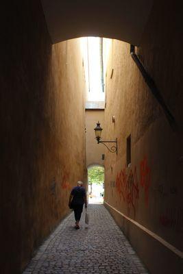 Passau: Gasse zum Dom
