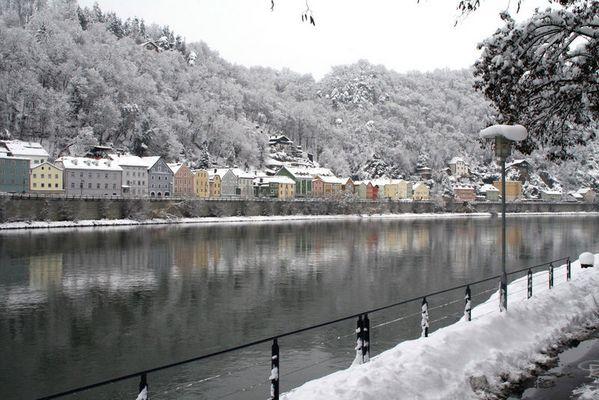 Passau im tiefsten Winter und das anfang März