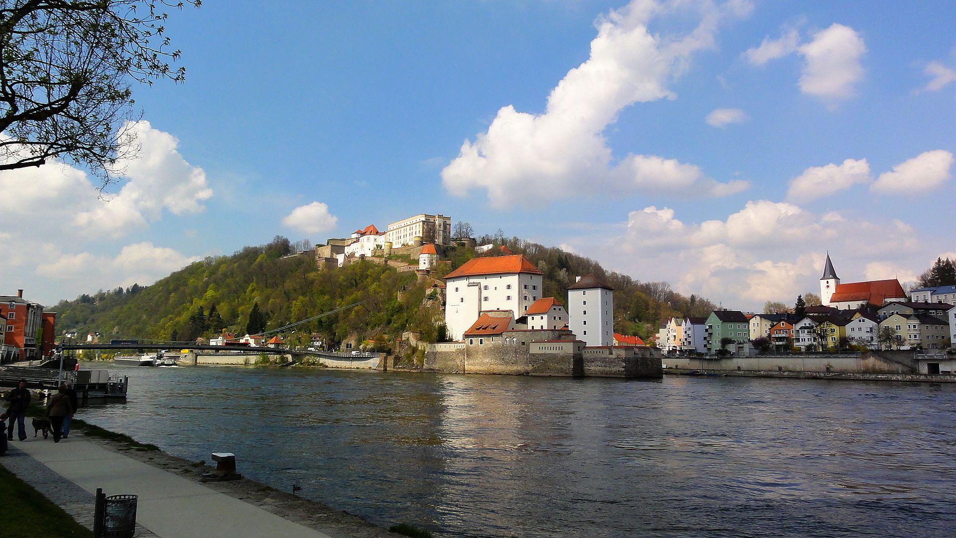 Passau mit Donau und Ilz