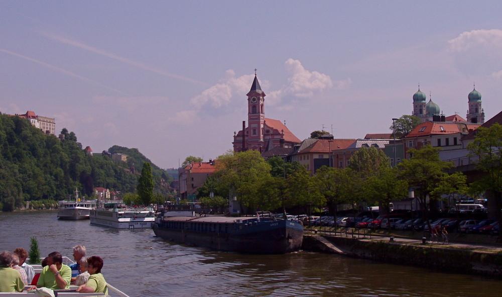 Passau, Vergnügen und Arbeit liegen da dicht beieinander