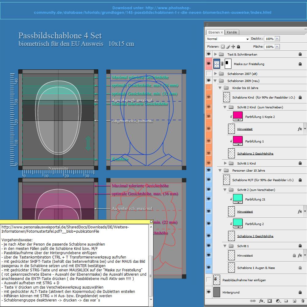 Passbildschablone Foto & Bild | ebv- arbeitsanleitungen, lernen am ...