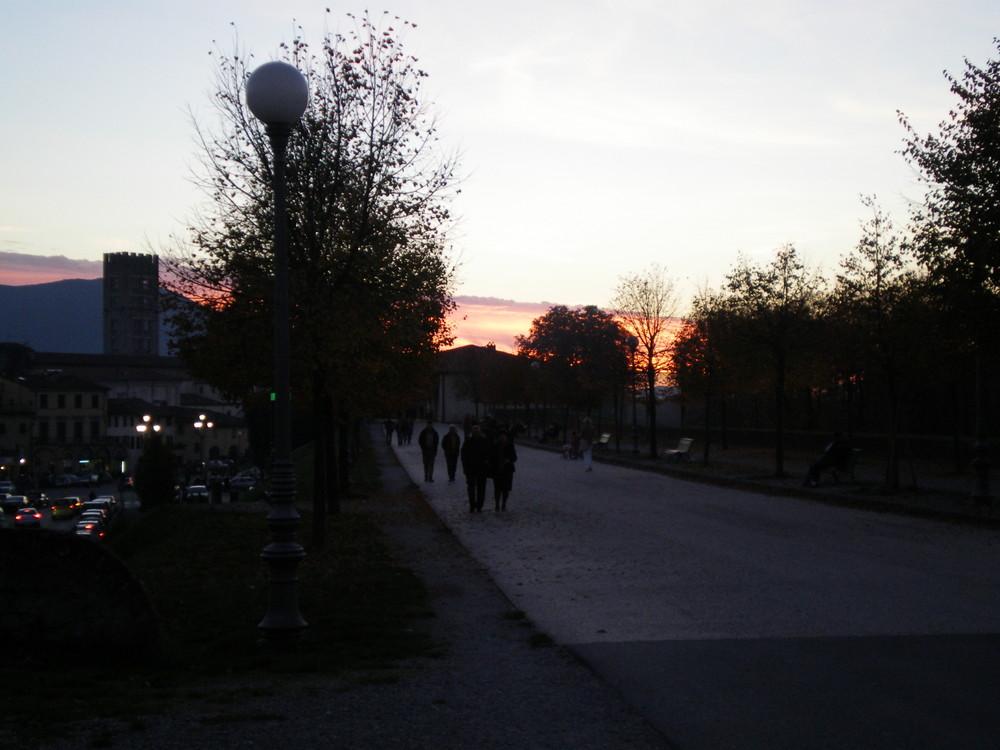 Passeggiata al tramonto