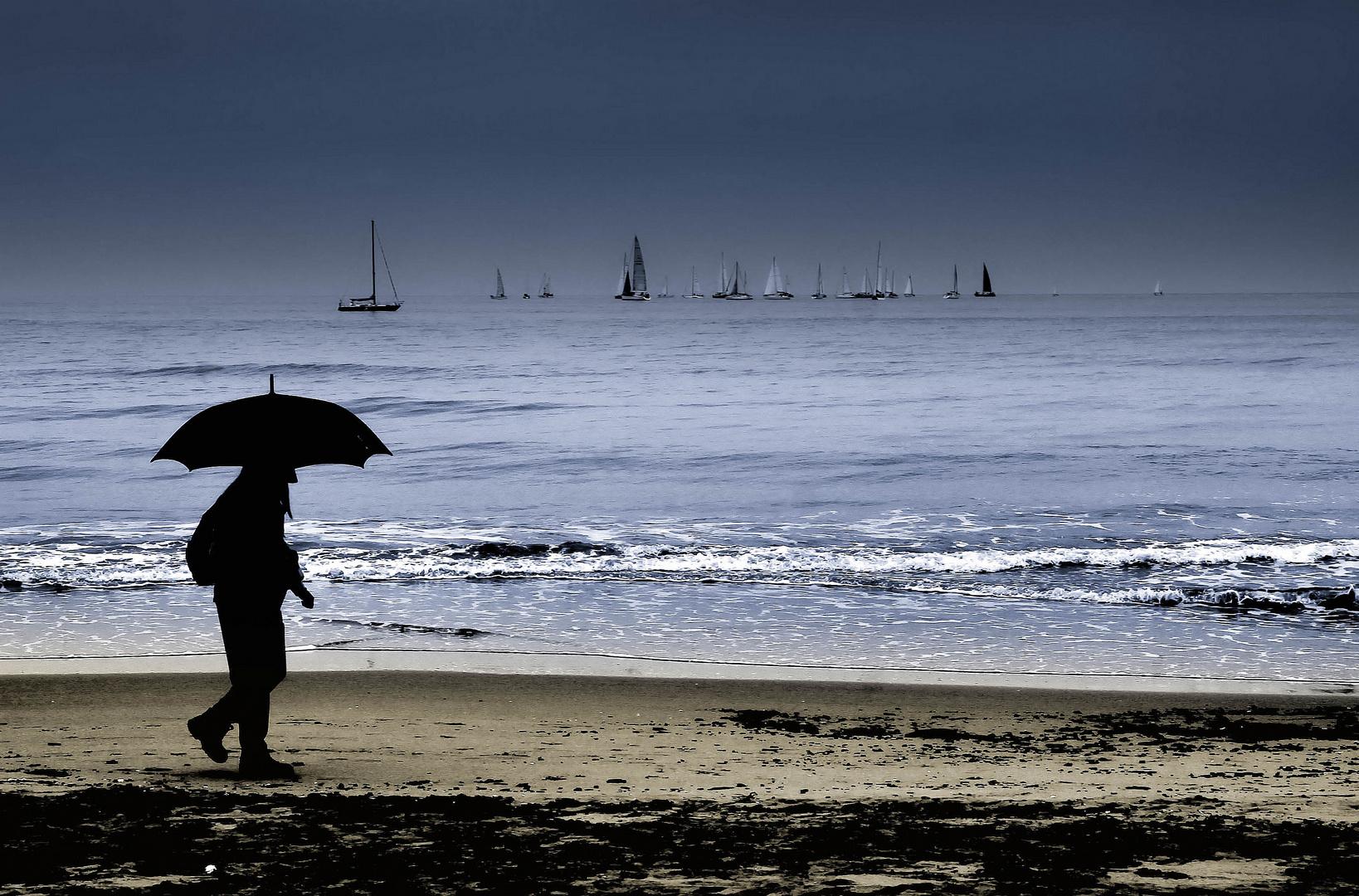 passeggiata con l'ombrello