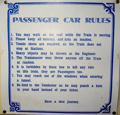 Passenger Car Rules