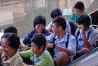 Passengers board the longtail boat in Minburi