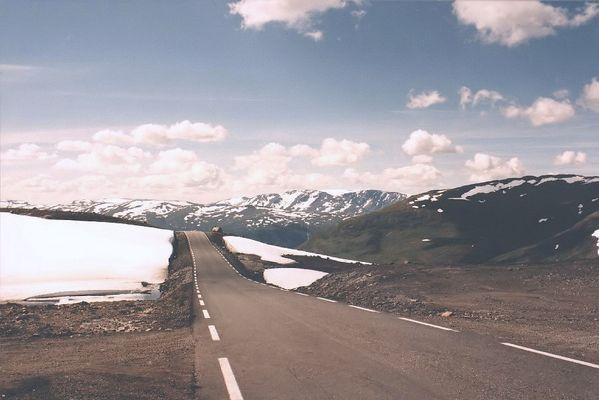Paßstraße in Norwegen
