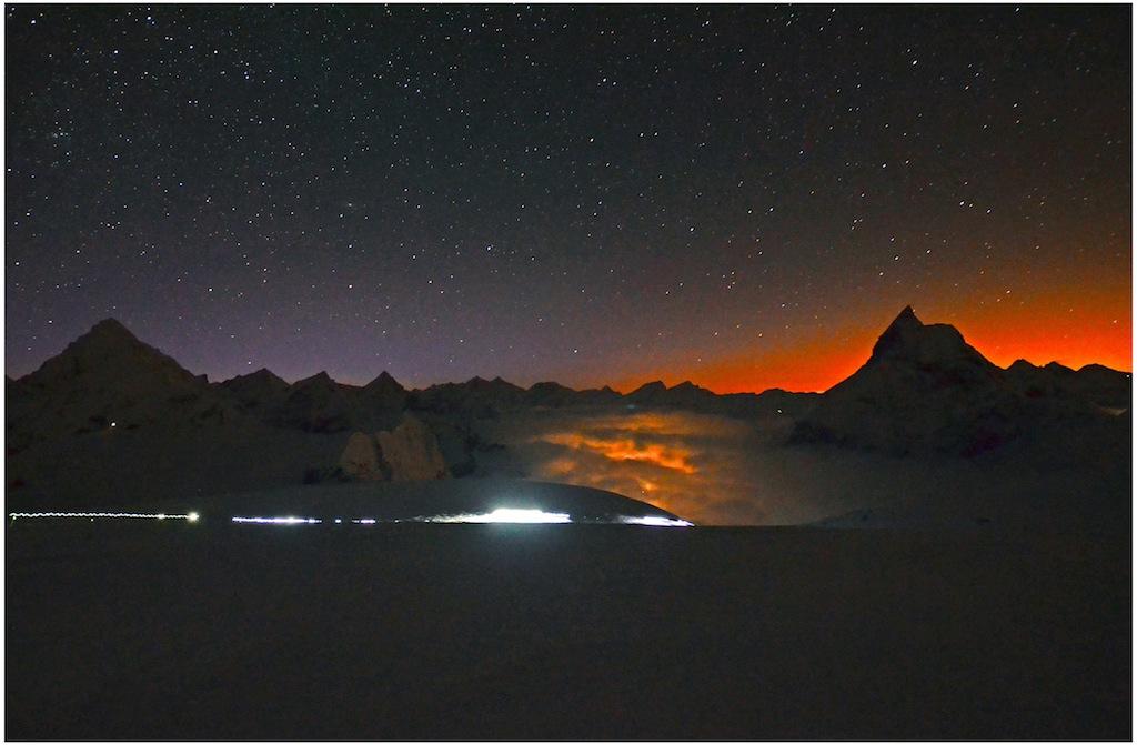Patrouille des glacers, kurz vor  der Tête blanche, 3'650 m