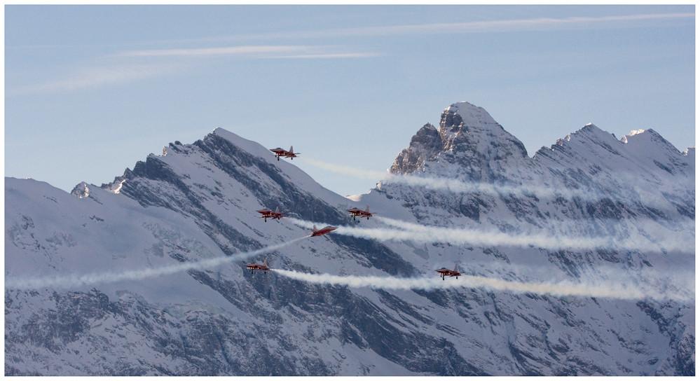 Patrouille Suisse am Lauberhorn