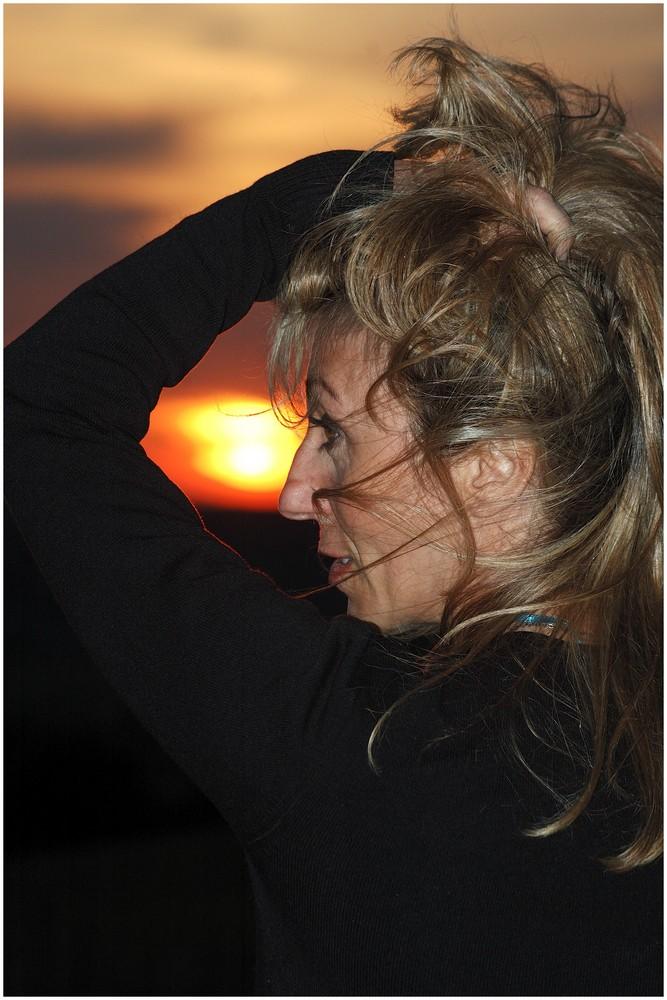 Patty ed il tramonto.