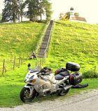 Pause beim Motorradausflug ins Allgäu