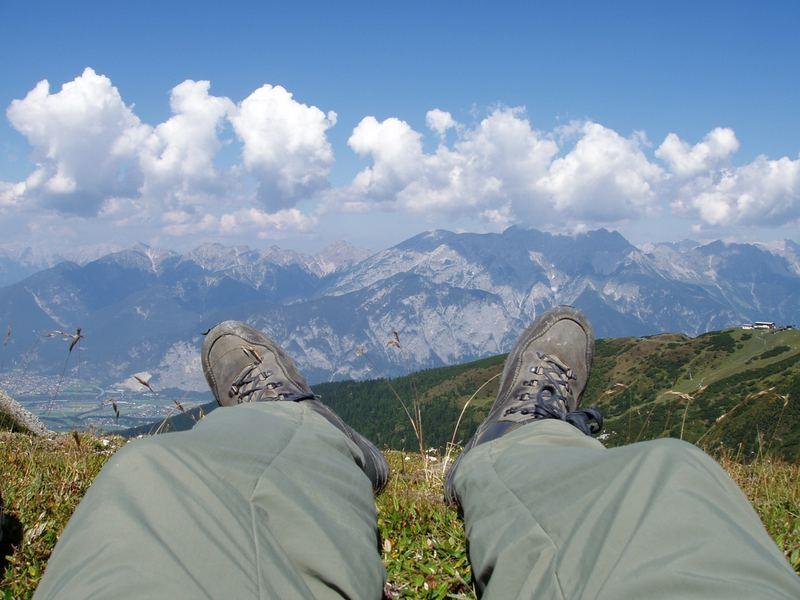 Pause in der Bergen
