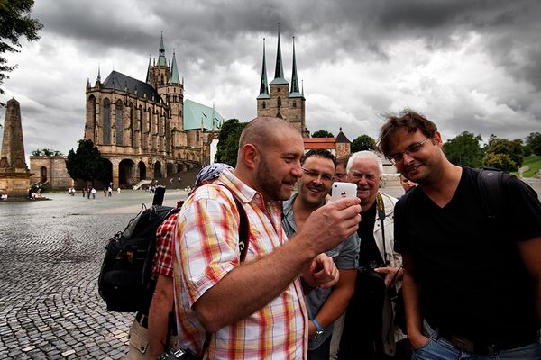 Pavel Kaplun besuchte Erfurt