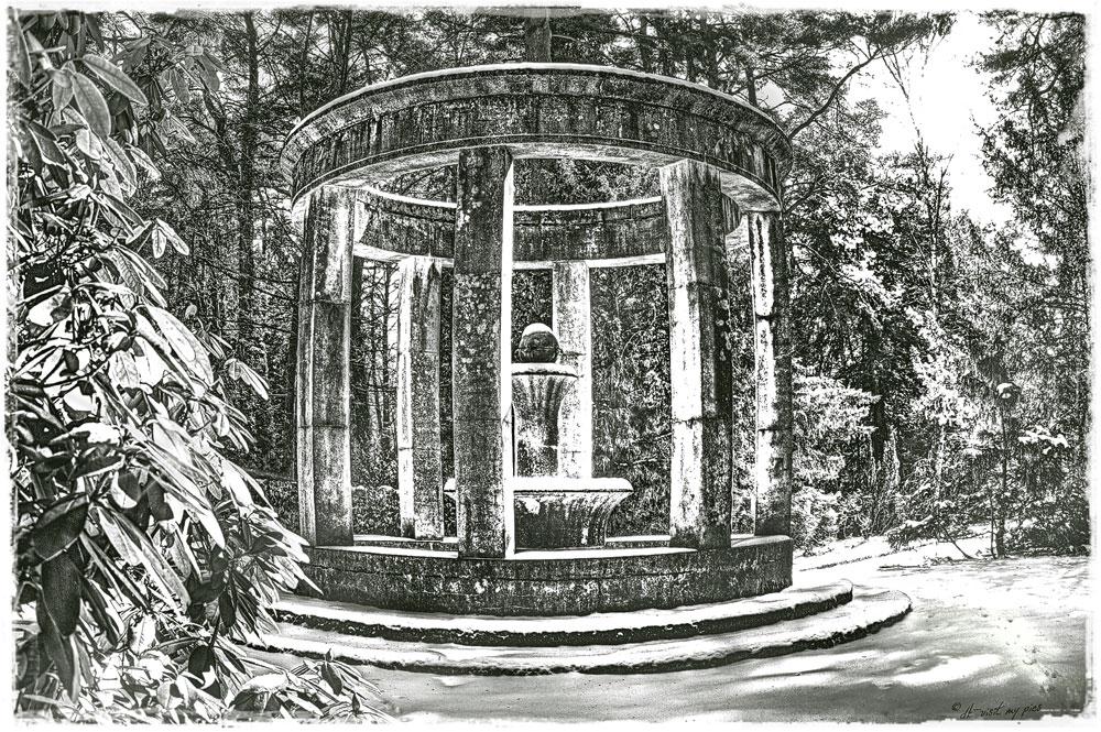 pavillon en hiver