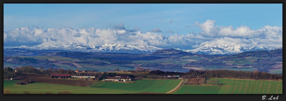 Paysage d'Auvergne: La massif du Sancy