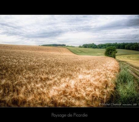 Paysage de Picardie : le Quesnel Aubry- 2