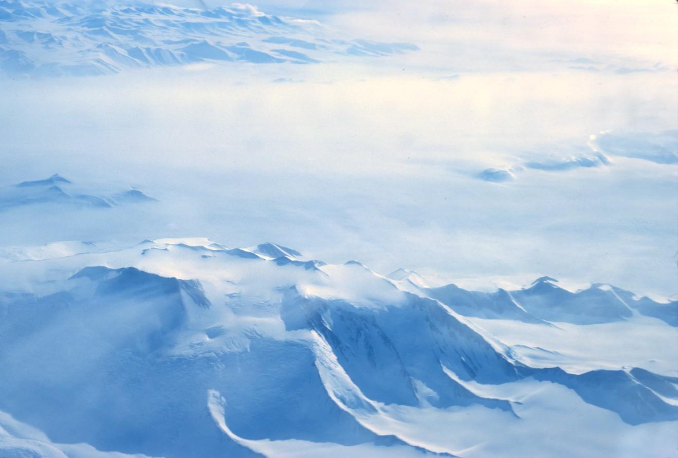 paysage du pôle-sud