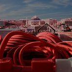 Paysage urbain aux tuyaux