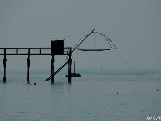 Pêcherie sur l'océan