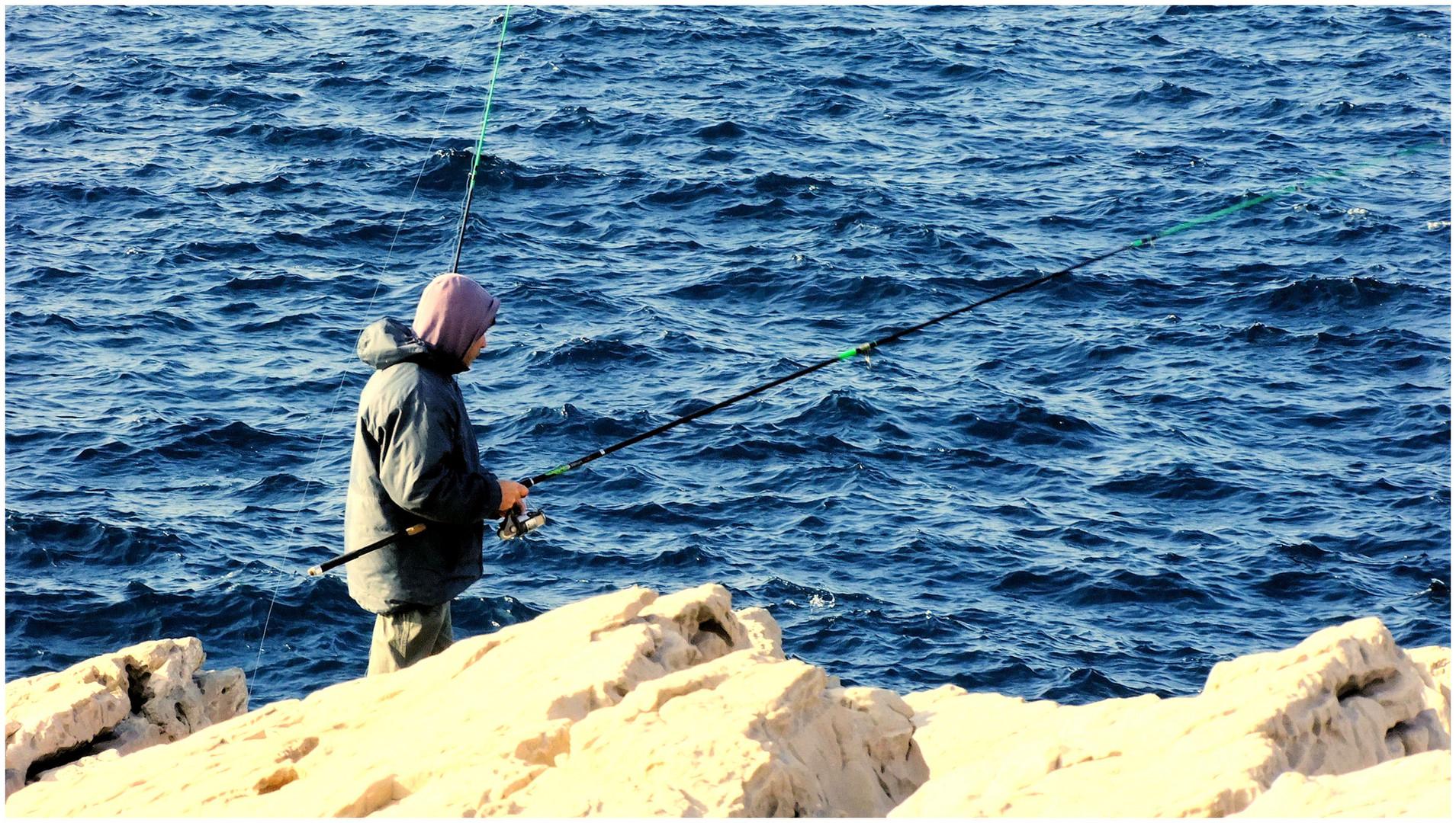 Pêcheur d'hiver