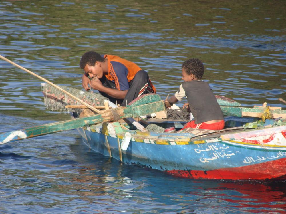 pêcheur sur le nil