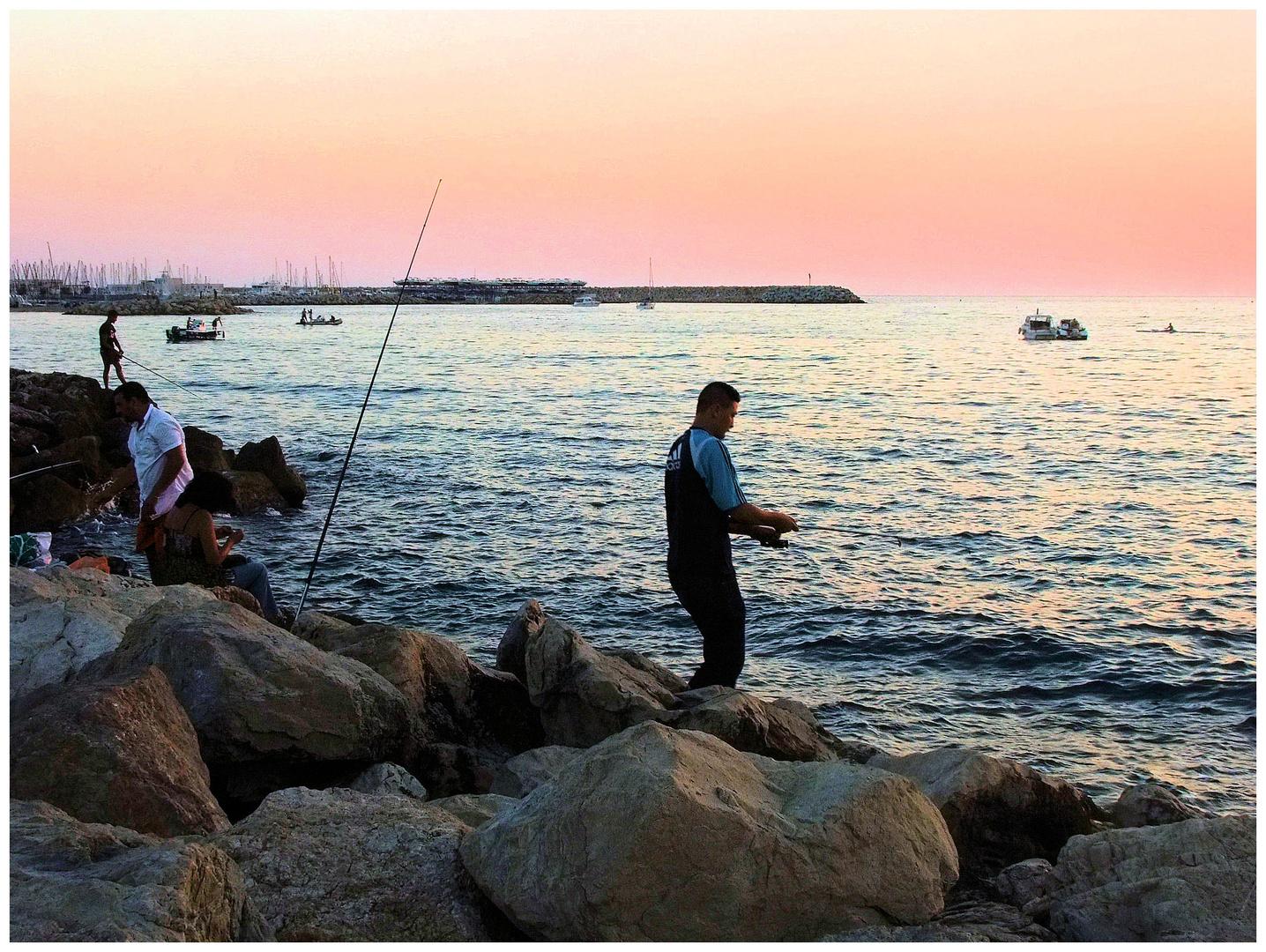 Pêcheurs au couchant