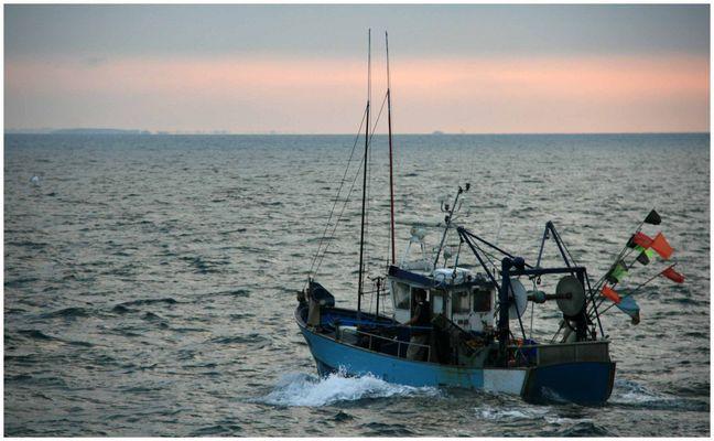 Pêcheurs au large de Belle ile en mer