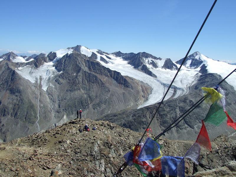 Peak of Kreuzspitze 3455m