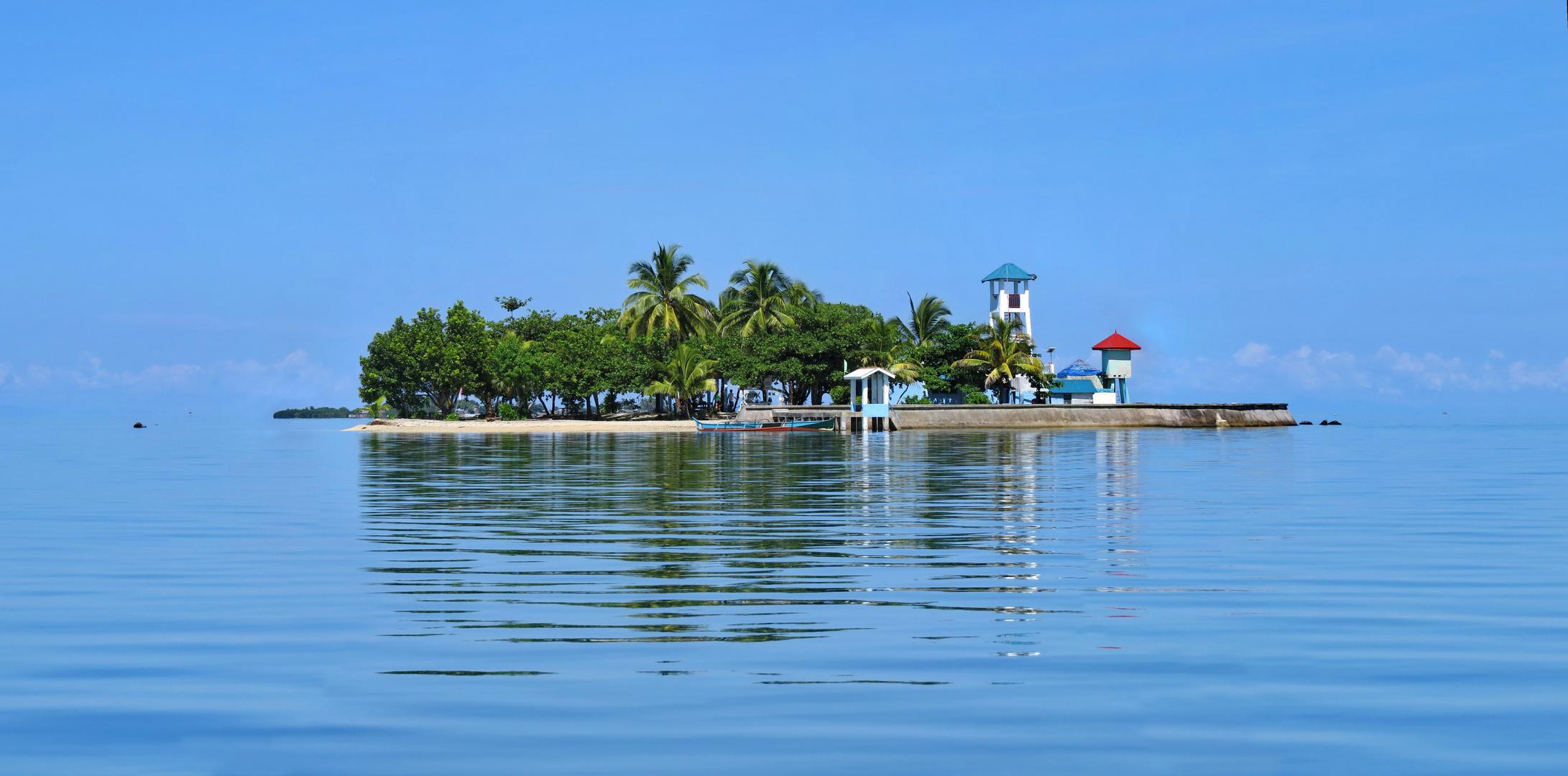 Pearl Island in Guiuan, Eatern Samar, Philippinen.