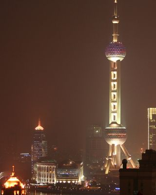 Pearl - the tv tower of Shanghai
