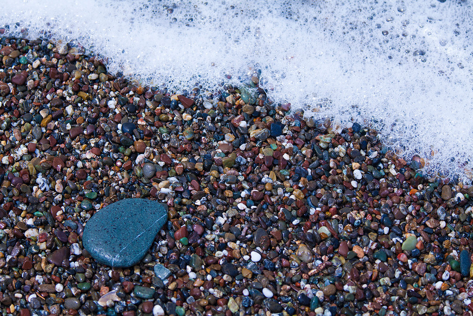 Pebbles and Surf in Northern California