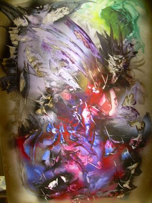 peinture abstraite, dervinalain.
