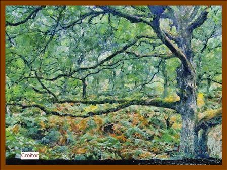 Peinture Des gorges D'Apremont à Fontainebleau